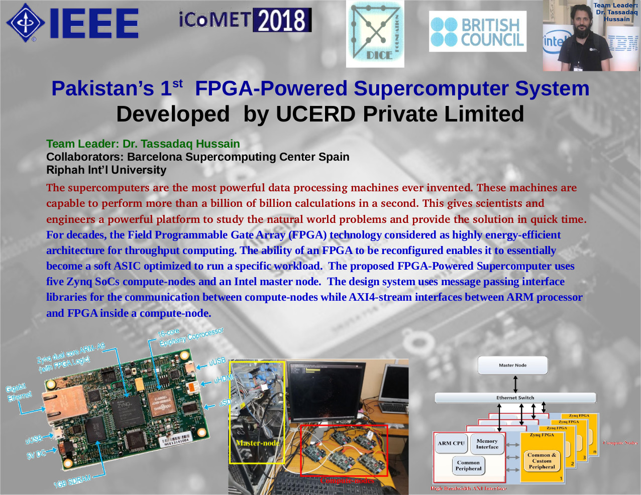 Pakistan's 1 st FPGA-Powered Supercomputer System Developed by UCERD Private Limited