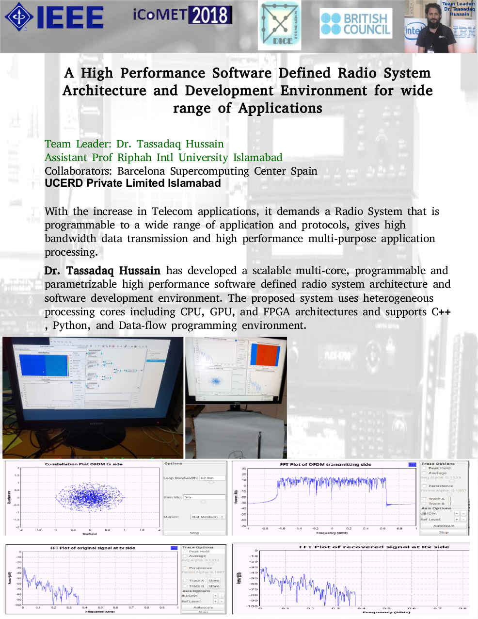 A High Performance Software Defined Radio System Architecture and Development Environment for wide range of Applications